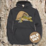 Turtles Model 15C Sternotherus carinatus Sold Out, black Hooded Sweater