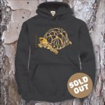 Turtles Model 6B, Geochelone platynota, Sold Out, black Hooded Sweater