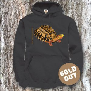 Turtles Model 7B, Cuora galbinifrons, Sold Out, black Hooded Sweater