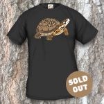 Turtles Model 13A, Terrapene carolina triunguis, Sold Out, black T-shirt