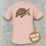 Turtles Model 13B, Terrapene carolina triunguis, Sold Out, sand coloured T-shirt