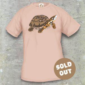 Turtles Model 13B, Terrapene carolina triunguis, Sold Out, sand coloured T-shirt