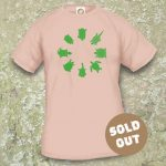 Turtles Model 2A Circle 1, Sold Out, Sand coloured T-shirt.