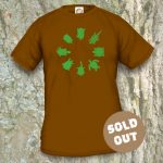 Turtles Model 2B Circle 1, Sold Out, Brown coloured T-shirt.