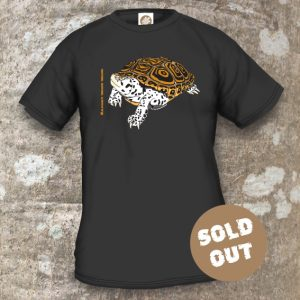 Turtles Model 8A, Malaclemys terrapin terrapin, Sold Out, black T-shirt